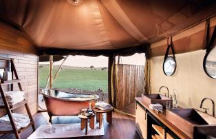 Afrika Tansania Serengeti Central One Nature Nyaruswiga Serengeti Family Tent Ba