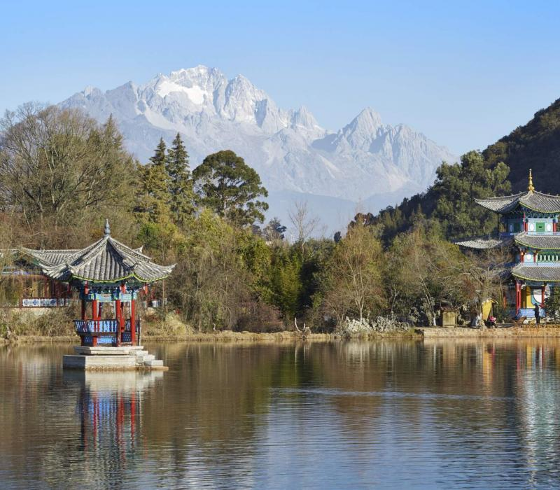 Asien China Lijiang Amandayan Amandayan, China - Lijang Black Dragon Lake_High R