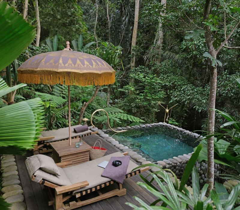 Asien Indonesien Bali Capella Ubud ubud-accommodation-rainforestent-saltwaterpoo